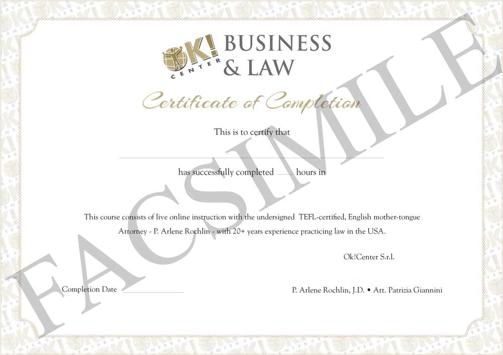 Legal English Certificate